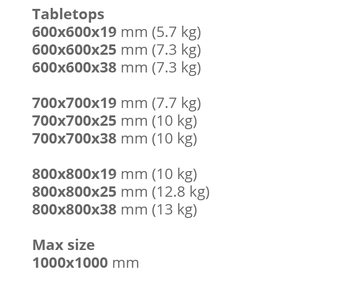 Table tops_Square R15