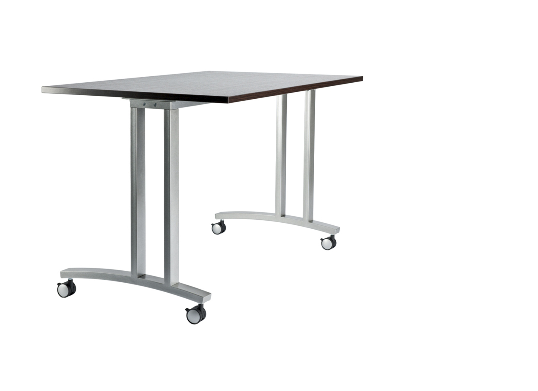 Metal frames for folding tables