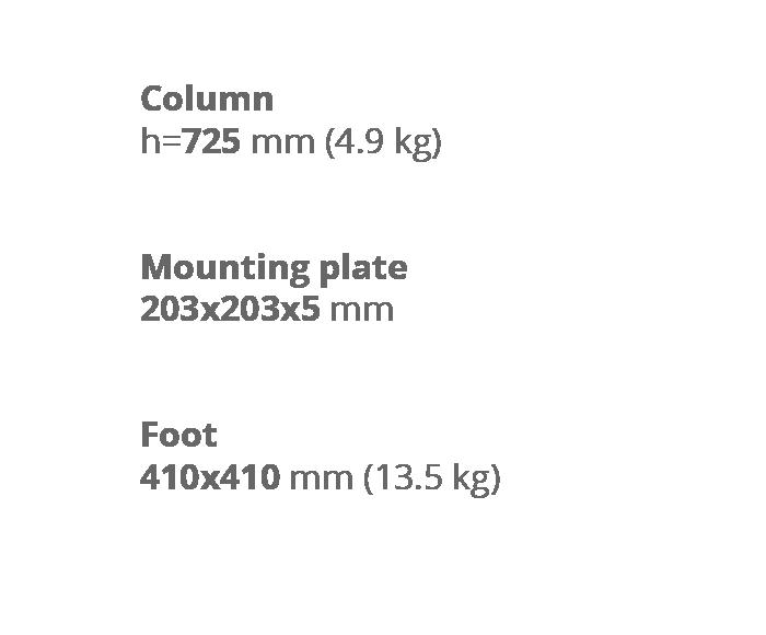 Опора для стола Latina Wood. Техническая информация. Завод Сталкон.