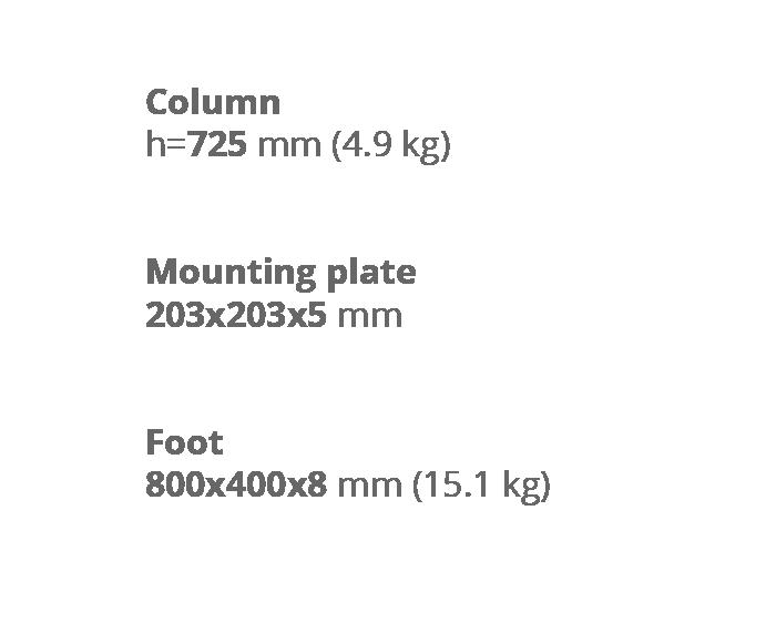 Опора для стола Milano Double Wood. Техническая информация. Завод Сталкон.