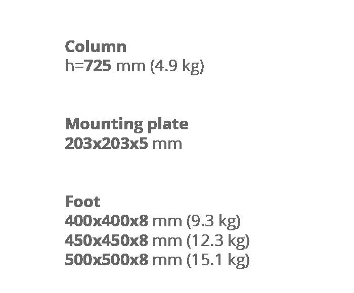 Опора для стола Milano Wood. Техническая информация. Завод Сталкон.
